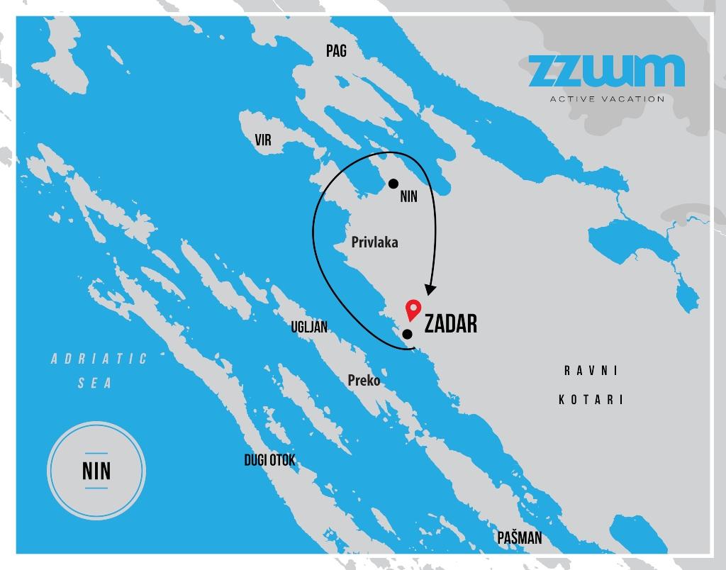 MAP OF A BIKE TOUR TO NIN