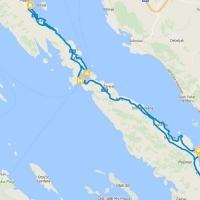 a map of bike tours on zadar islands