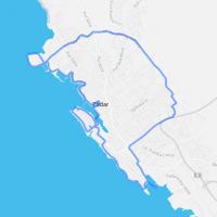 map of bike tours in zadar