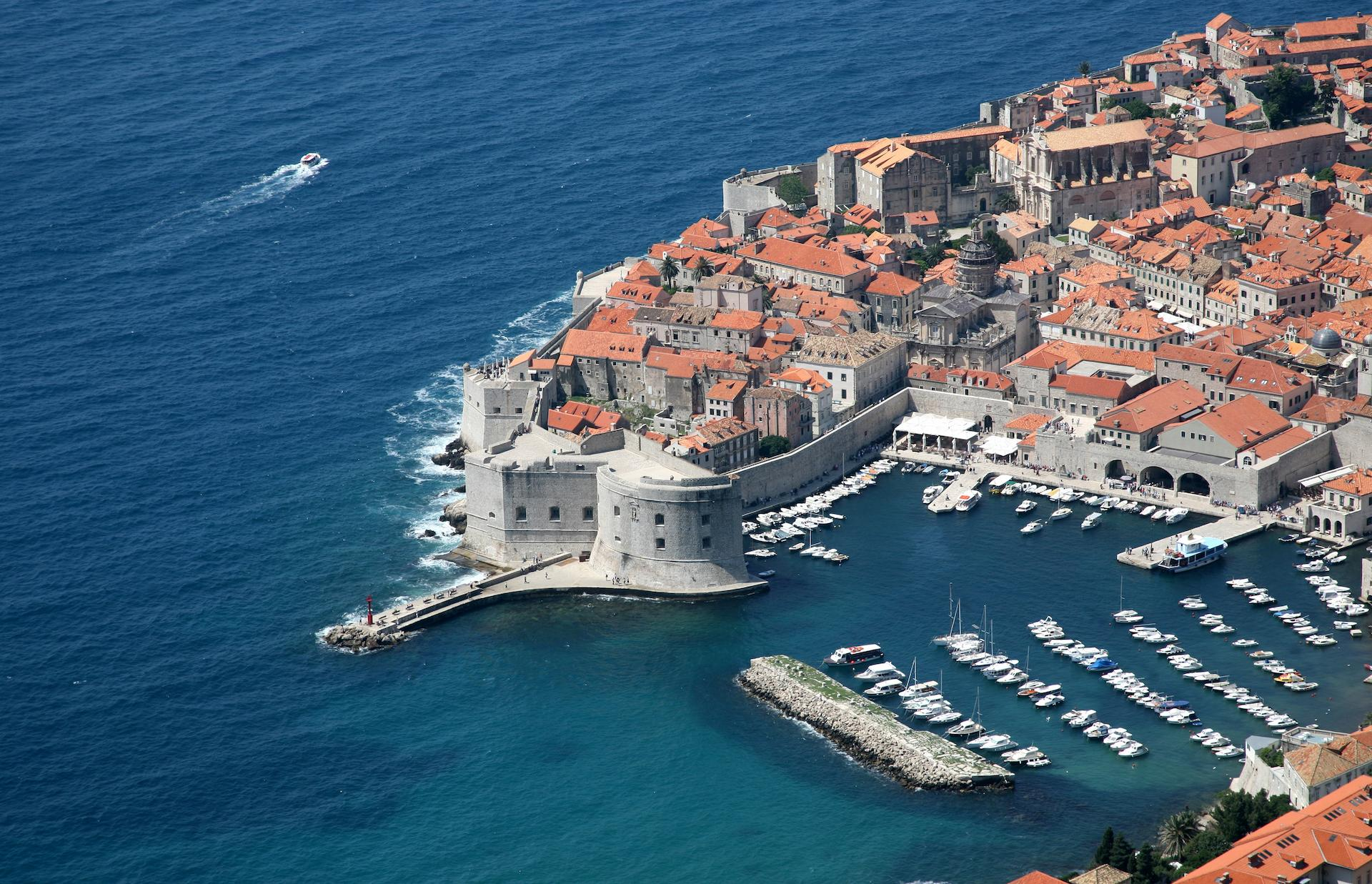 Aerial view on Dubrovnik, experience holiday in Croatia, Croatia