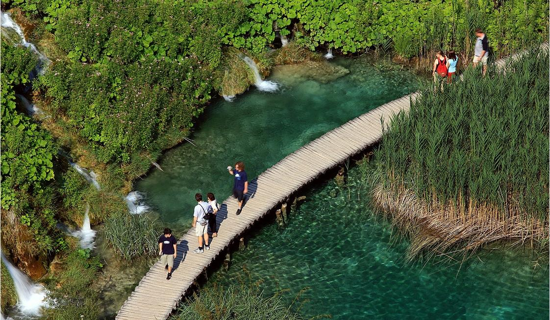 The view of Plitvice National Park, Croatia during romantic getaway