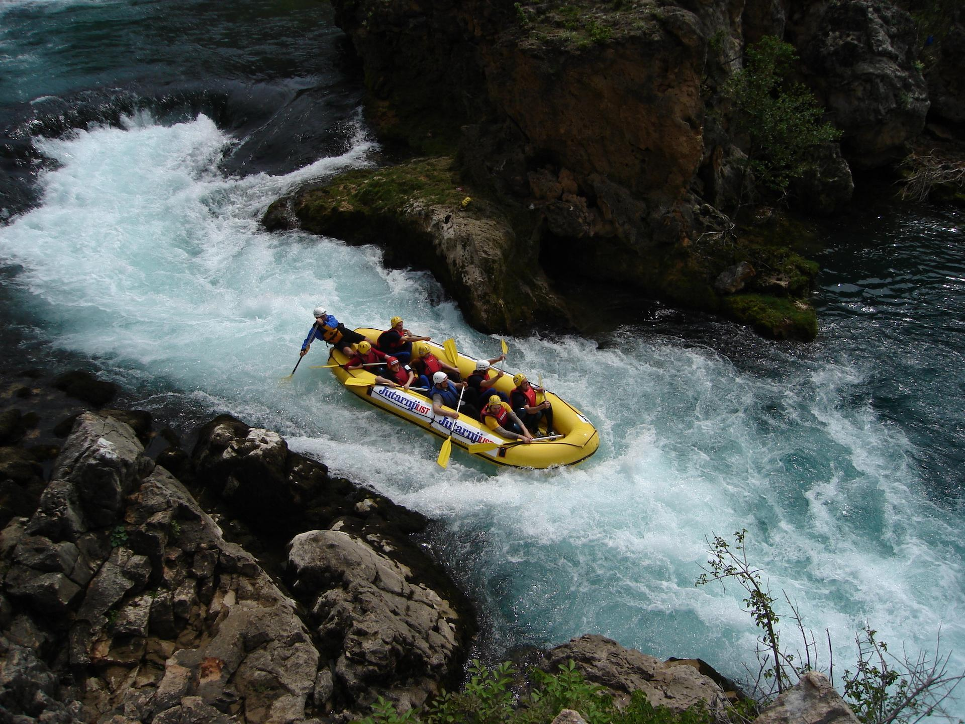 Rafting on river zrmanja.