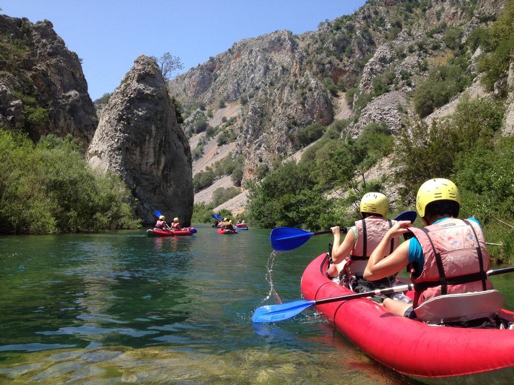 Kayaking on river Zrmanja.