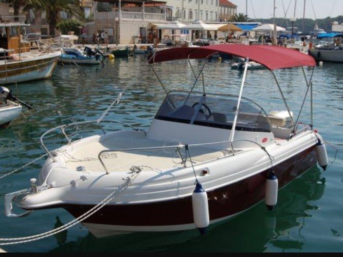 speedboat in the port