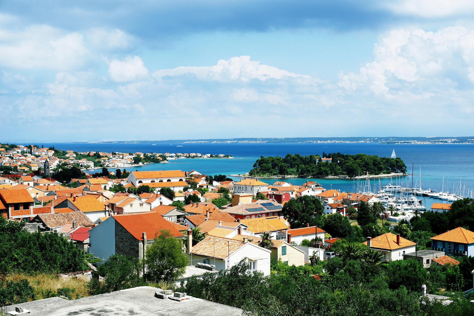 View on village Preko, island Ugljan, Croatia