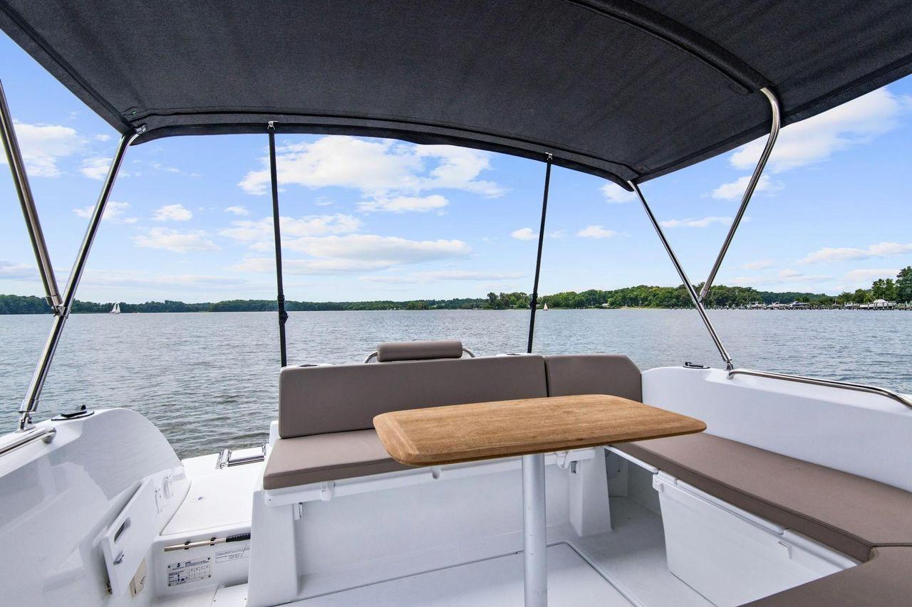 Speedboat deck, a boat for Ugljan bost trip