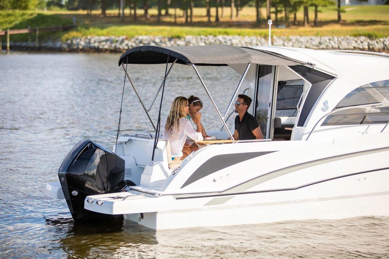 Two women and a man on a Ugljan boat trip