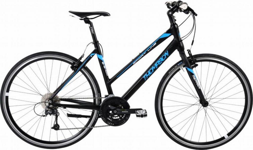 crno-plavi ženski gradski bicikl