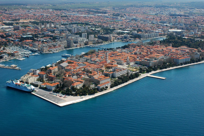 city of Zadar, Croatia, aerial view