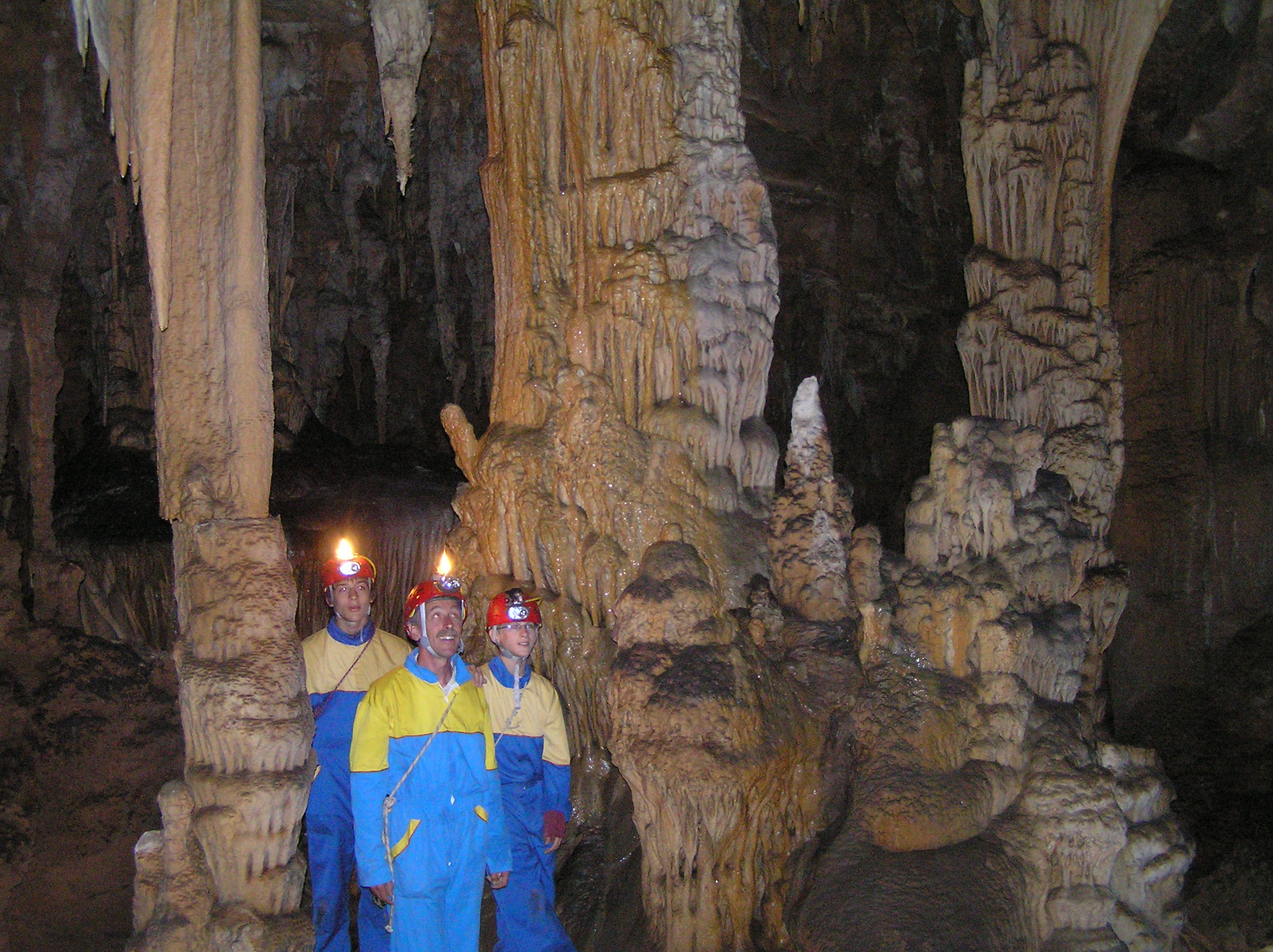 PEOPLE ON A CAVING TOUR