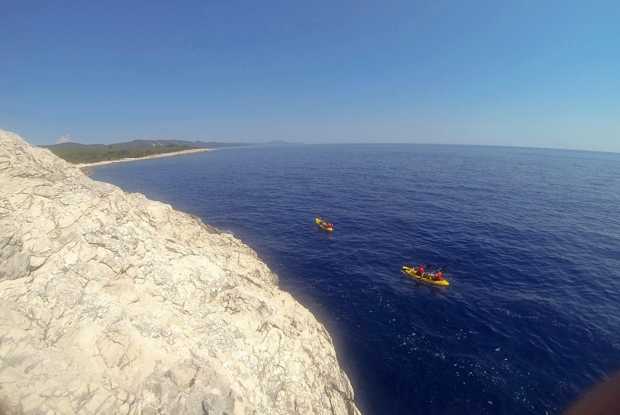 Kayaks near dugi otok