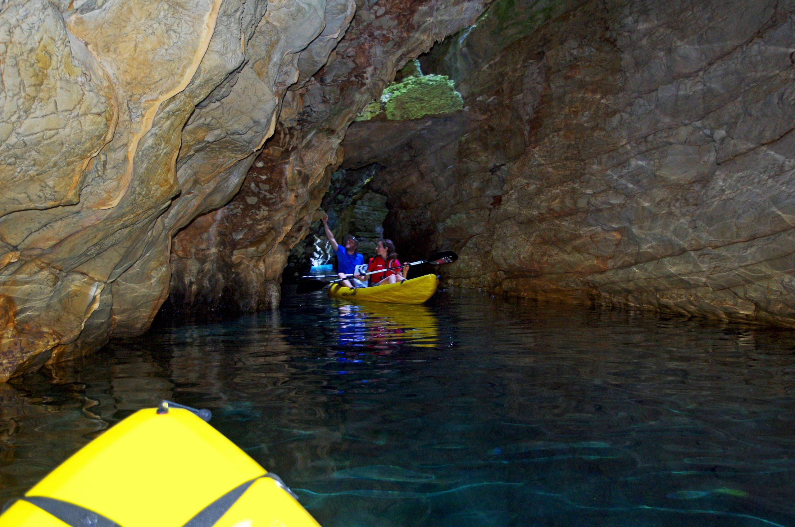 kayaks in cave dugit otok croatia